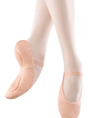 split sole leather ballet shoes